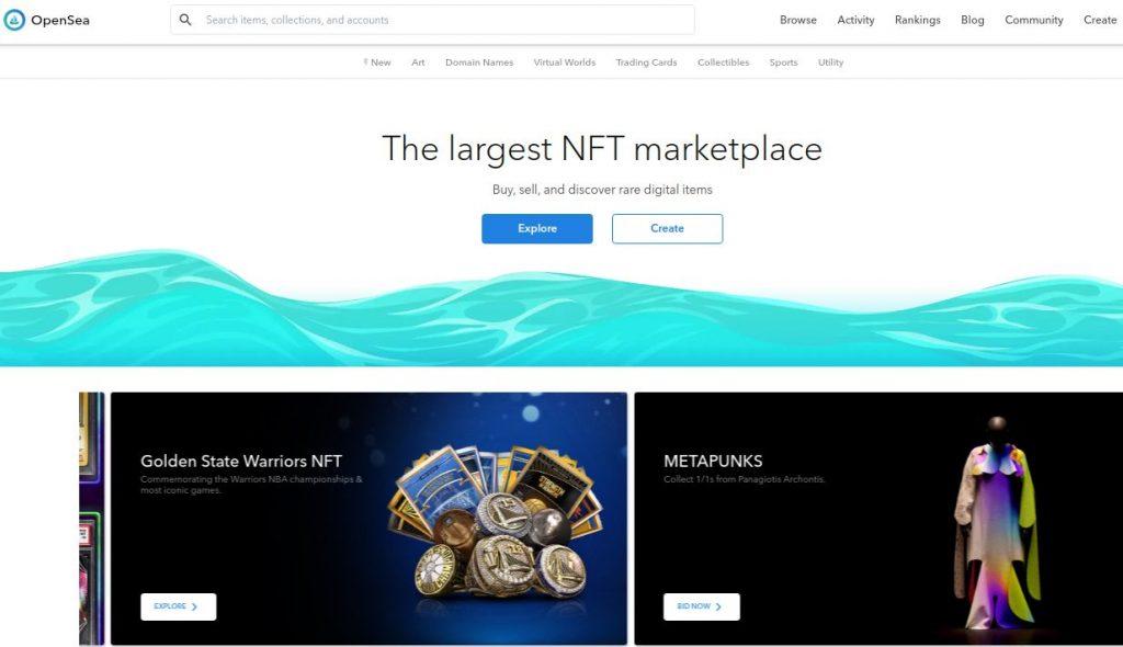 Como se cadastrar e comprar arte em NFT no Opensea?